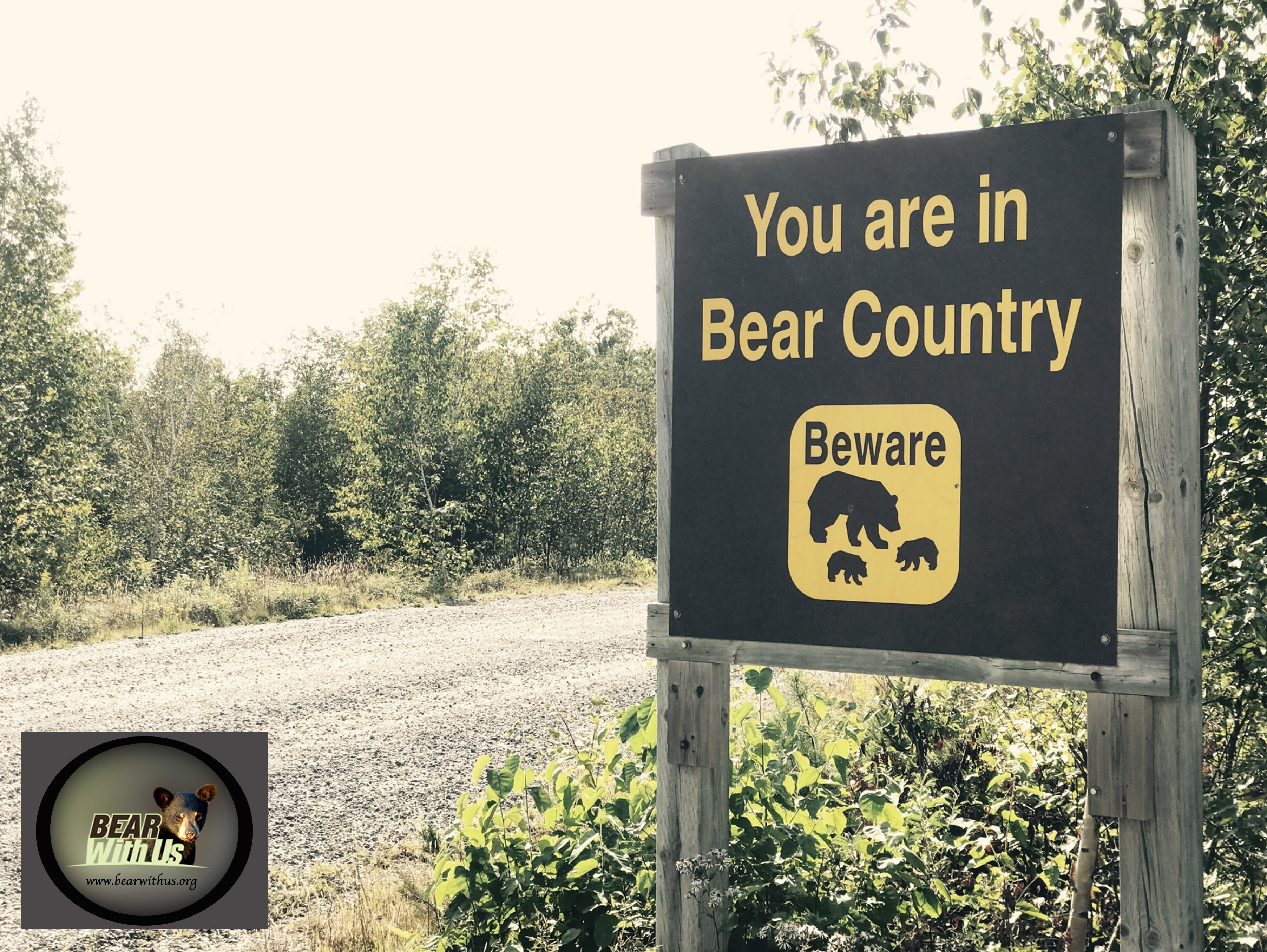 sign, You are in Bear Country